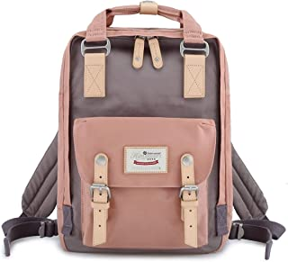 "Himawari School Waterproof Backpack 14.9"" College Vintage Travel Bag for Women,14.."