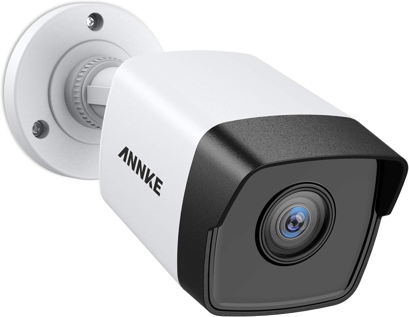 ANNKE C500 5MP PoE Security IP Bullet Camera w/ Audio,100ft EXIR 2.0 Color Night Vision, Built-in Mic, H.265+ Internet IP Camera, Digital WDR, IP67 Weatherproof, Smart Motion Alerts