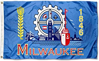 Sports Flags Pennants Company City of Milwaukee Flag 3x5 Foot Banner