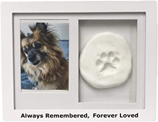 Midlee Always Remembered, Forever Loved White Pet Frame with Imprint Clay