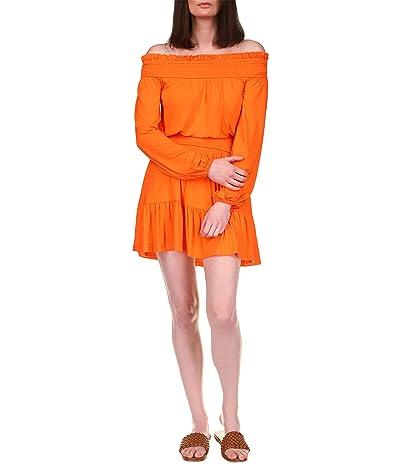 MICHAEL Michael Kors Solid Off-the-Shoulder Mini Dress