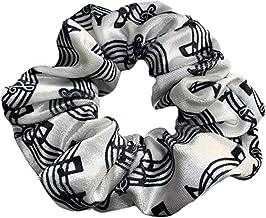 Music Scrunchie, Girls Music Premium Velvet Scrunchie Gift, Treble Clef Jewelry - Music Note- Music Lover Jewelry Gift