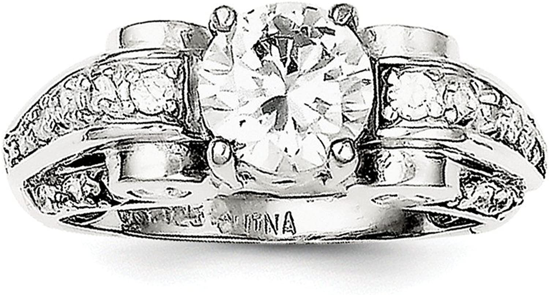925 Sterling Silver Cubic Zirconia Fancy Ring