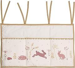 Pink Beige Taftan Hello World Bumper Cot Bed 180 x 35 cm 530 g BU-31