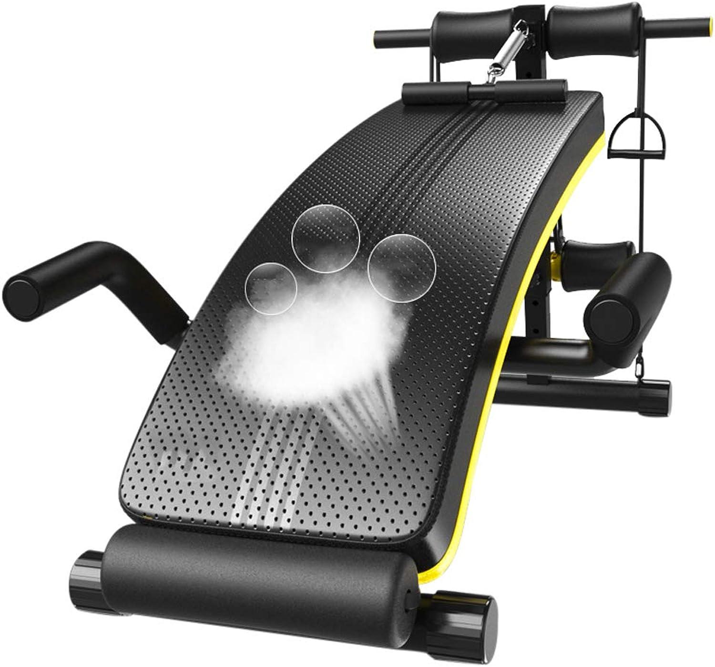 MMM@ Sit-Up Board Home Sit-Ups Fitnessgerte Mnnliches Bauchbrett Sporthilfen Bauchmuskelübung Multifunktionsrückenbrett Faltbar Leicht zu tragen Sparen Sie Platz