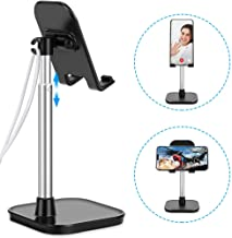 AONKEY Cell Phone Stand, Height Angle Adjustable Desk Phone Holder, Compatible with iPhone 11 Pro Max SE XS XR X 6 6S 7 8 Plus, All Mobile Phones & Other 4-11 inch Devices