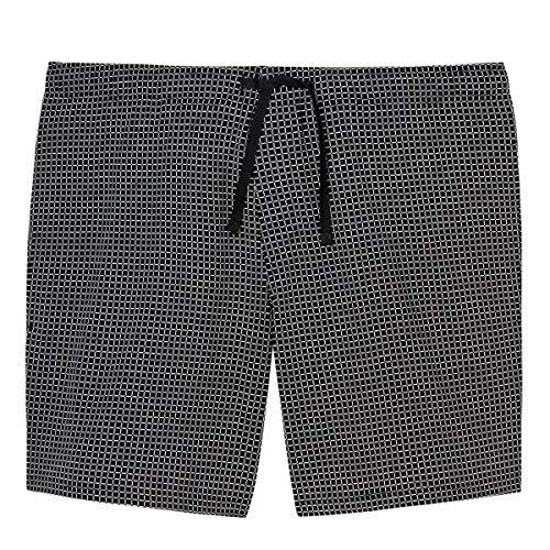 Schiesser Herren Mix & Relax Bermuda Schlafanzughose, Schwarz (Schwarz-Gem 006), Medium (Herstellergröße:050)