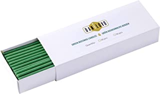 Danilovo Bienenwachs Kerzen Grün - Orthodoxe Kerzen für Gebet Rituals Tischdeko - Ungiftig, Ruß - Tropffrei, Lang, Nachhaltige Produkte 50, Höhe 16,5 cm