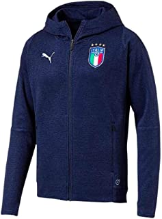 b523265d37 FIGC Italia Casual Performance Zip-Thru Hoody PEACOAT HEATHER 18/20 Italy  Puma
