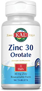 KAL 5198482 Zinc Orotate Sustained Release 30mg | Nutritive Support for Normal, Healthy Protein Synthesis, Proper Growth, ...