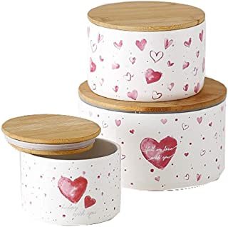 Home Collection Maison Cuisine Rangement Organisation Accessoires Décoration Contenants Ensemble de 3 Boîtes à Fermeture H...