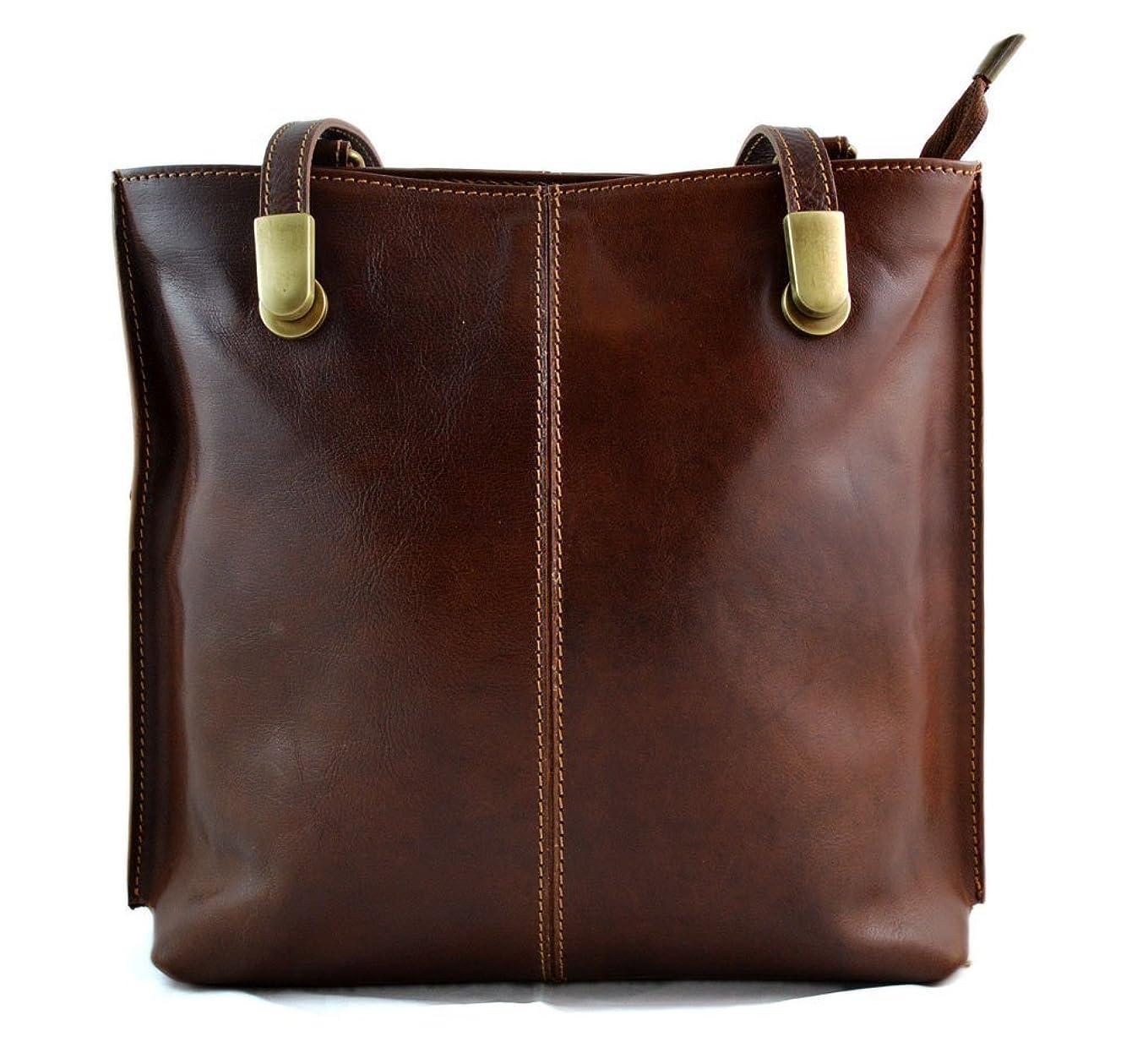 Ladies handbag leather bag clutch backpack crossbody women bag made in Italy brown