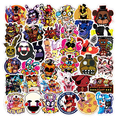 100 unidades de pegatinas de Freddy Graffiti para equipaje, portátil, graffiti, regalos, dibujos animados, pegatinas, 100 unidades