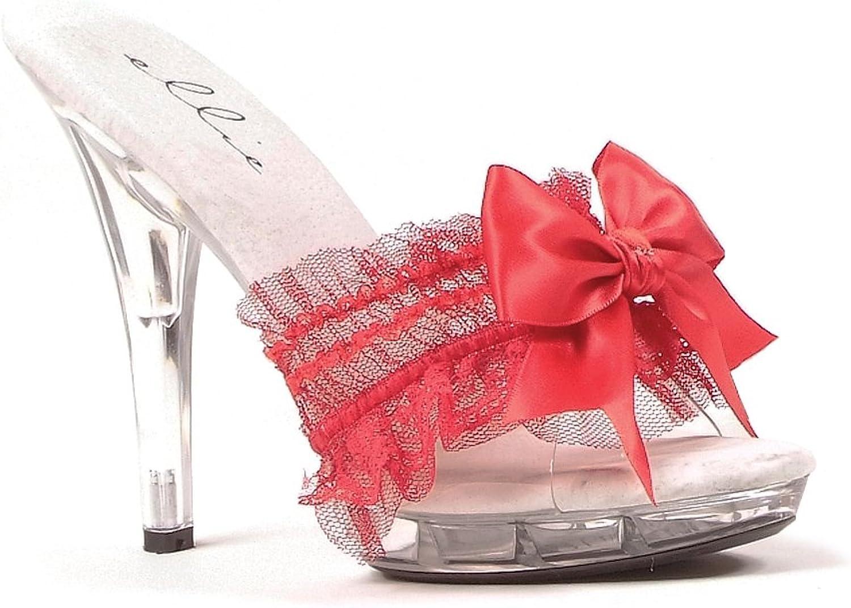 Women's shoes 5 Inch Heel Sandal (Red;6)