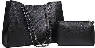 Designer Handbag for Women Adjustable Chain Strap Shoulder Bag Tote Black