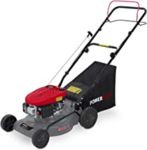 3-wheel lawn mower with electric start function, , cutting width 46 cm, 60-litres grass collector, 6-levels adjustable cutting height - settings 25-75 mm,/wheel drive 5HP . Hecht petrol-powered lawnmower 5483/SW 3.7kW