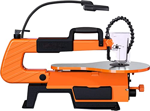 2021 Scroll Saw, 500-1700 SPM Variable Speed Scroll Saw with Flexible 2021 Shaft Grinder (31 Accessories), Foot Switch, LED, Air outlet sale pump -TLSS01A online sale