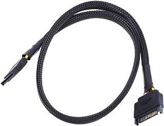 Phobya SATA Strom Verlängerung intern 60cm   schwarz Kabel SATA Kabel