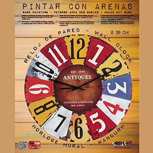 Arenart - Set Pintar con Arenas de Colores - Reloj ANTTQUES Ø 38 cm