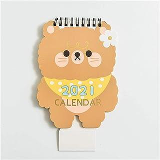2021動物ユニコーンデスクトップカレンダー桜スケジュールプランナーかわいいアジェンダ表カレンダー個 (Color : G)