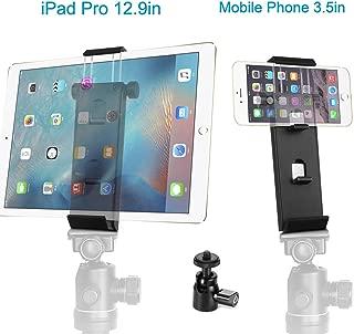 ohCome Phone Tablet Tripod Mount Adapter | Plastic Multi-Angle Tablet Stand Desktop Holder Dock Fits 3.5-12.9