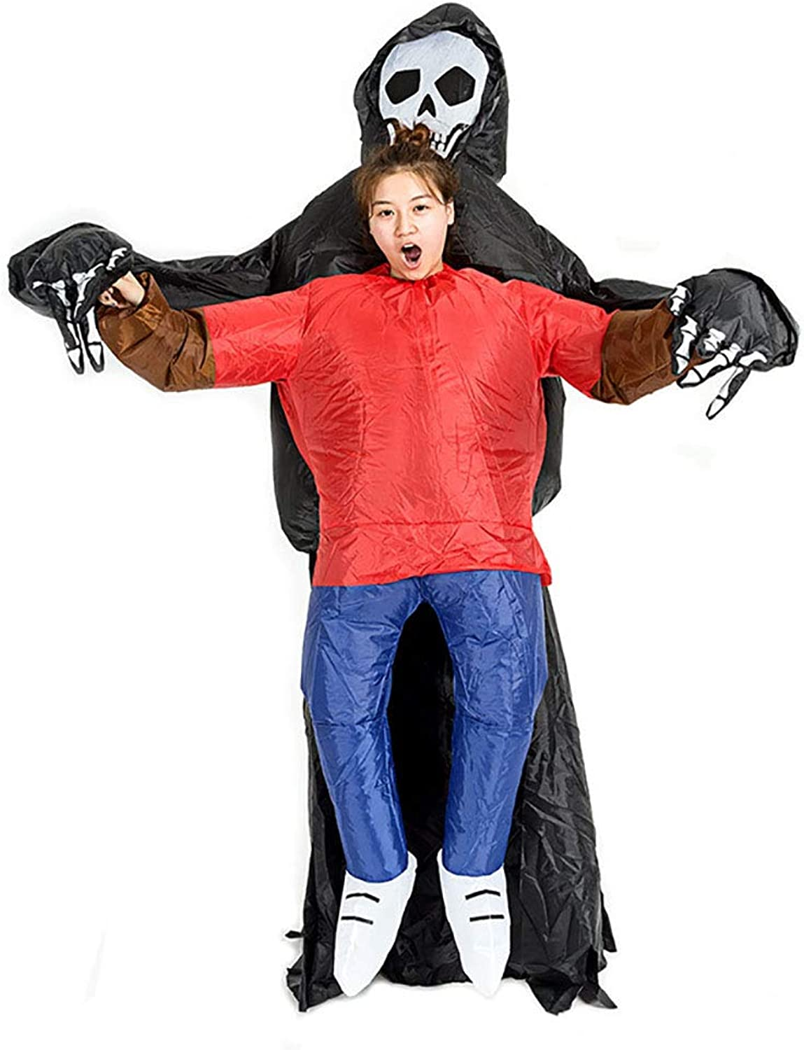 Ghost Inflatable Costume Cosplay Scary Fancy Dress Grim Reaper Adult Blow Up Clothes for Adult