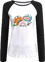 Creamfly Womens The Amazing World Of Gumball Brother Long Sleeve Raglan Baseball Tshirt