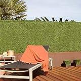 Bricolemar Seto Artificial Ocultación Jardín para Exterior, Ocultación 90% 36 Varillas Verde (2...