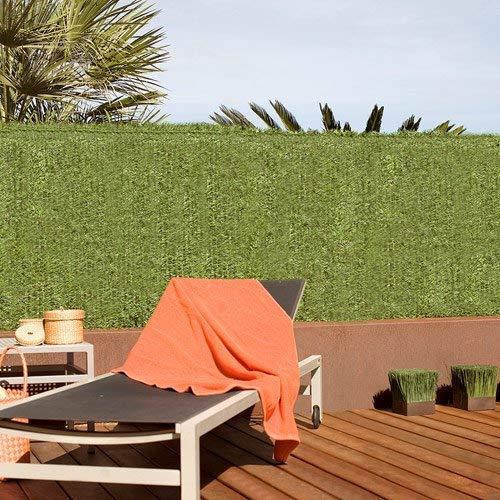 Bricolemar Seto Artificial Ocultación Jardín para Exterior, Ocultación 90% 36 Varillas Verde (2 Rollos de 2mt (Alto) x 3mt (Ancho) Cada uno)