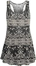 Women Maxi Scoop Neck Sleeveless Top TANGSen O-Neck Casual Printed Flare Tank Loose xianggannic Fashion Summer Vest