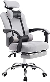 YALLA OFFICE 802-Gry-Fr Ergonomic Office Chair Ergonomic Mesh With Wheels, Cushion & Back Support- AdjustableHeadrest Ba...