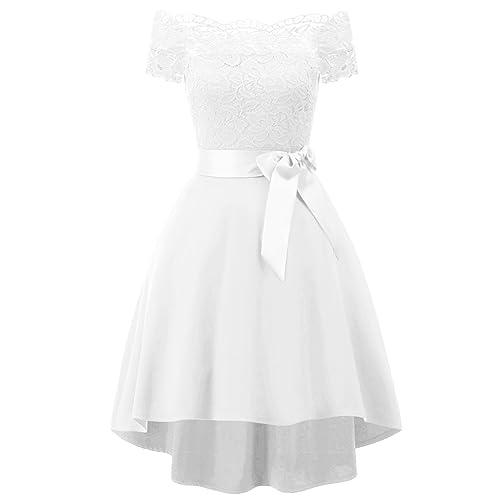 Vintage White Casual Bride Wedding Dresses Amazon Com