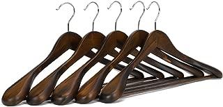 nobrand Waller PAA Wooden Extra-Wide Shoulder Suit Hangers, Coat Hangers, 5 Pack