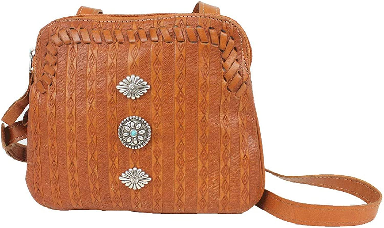 American West Leather Cross Body Bag Purse Holder Bundle