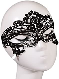 Topshop Sexy Lace Halloween Masquerade Queen Eye Mask Costume Accessories (Black)