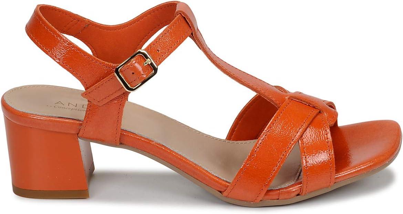 André Josephine Sandalen/Open Schoenen Dames Oranje Sandalen/Open Schoenen Shoes Oranje