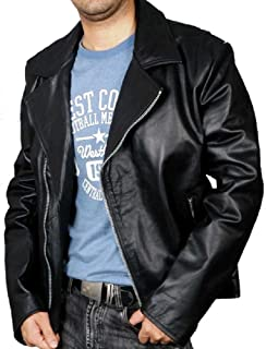 New York Lambskin Leather Ghost Rider Nicolas Cage Black Leather Jacket