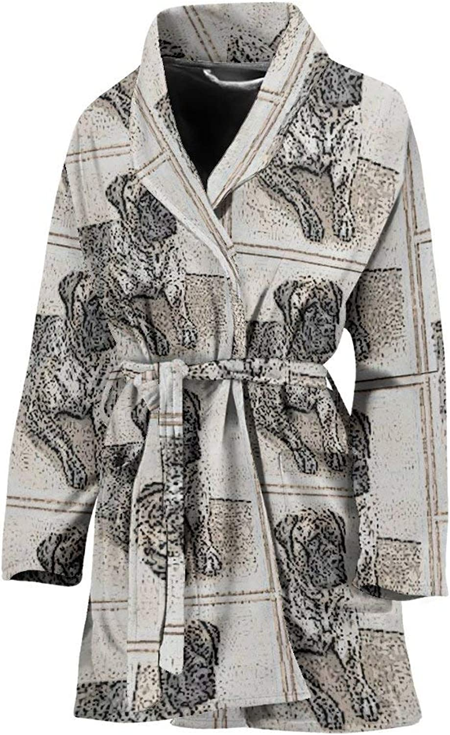 Deruj English Mastiff Patterns Print Women's Bath Robe