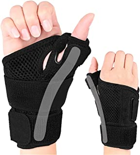 Reversible Thumb Stabilizer, Black, One Size Fits Most | Stabilizing Thumb Brace, Universal For Both Hands