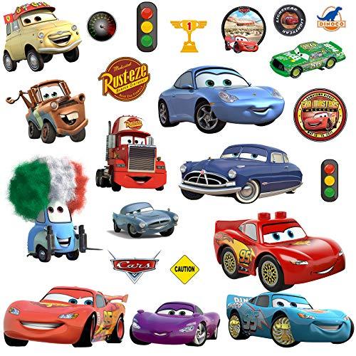 Cars 3 Wand Aufkleber für Jungen und Mädchen, Wandbild als selbstklebende Wanddekoration
