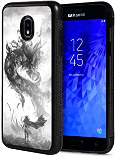 Galaxy J7 2018/J7 V 2018/J7 Refine/J7 Star Case, Slim Anti-Scratch TPU Rubber Protective Case Cover for Samsung Galaxy J7 2018 - Chinese Style Ink Painting Dragon