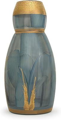 TERESAS COLLECTIONS Vases /à Fleur en C/éramique,Vase d/écoratif Moderne Fait /à la Main en Or Vert de 23 cm