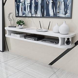 Présentoirs Flottant plateau mural TV étagère Armoire murale Meuble TV de rangement for les composants TV, Media Console e...
