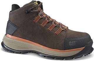 Caterpillar - أحذية أمان، حذاء عمل CAT الرجالي المصنوع من خليط معدني مقاوم للماء، لون الشوكولاتة المر الداكن - مقاس 45 EU ...