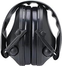 Misright Protetor de ouvido eletrônico com cancelamento de ruído, proteção para tiro, caça, esporte (preto)