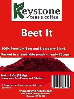 Beet It –2 Oz (20 Cups) Natural Ingredients: Beet Powder, Elderberry powder (2 Oz)