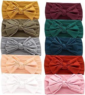 Baby Nylon Headbands Hairbands Hair Bow Elastics for Baby Girls Newborn Infant Toddlers Kids (Super soft-J)