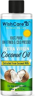 WishCare Premium Cold Pressed Extra Virgin Coconut Oil - 500 ML
