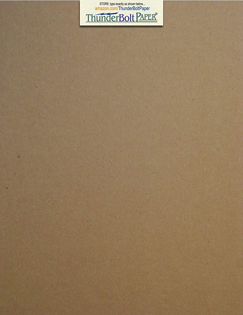 25 Sheets Chipboard 46pt (Point) 8 X 10 Inches Heavy Weight Frame|Photo Size .046 Caliper Thick Cardboard Craft|Packing Brown Kraft Paper Board