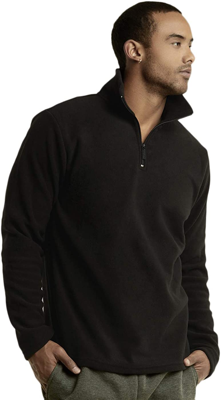 Knocker Men's Polar Fleece Quarter Zip Pullover